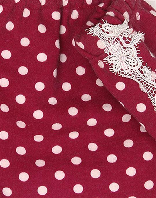 K.CO.89 Girls Casual Wear Polka Print Skirt