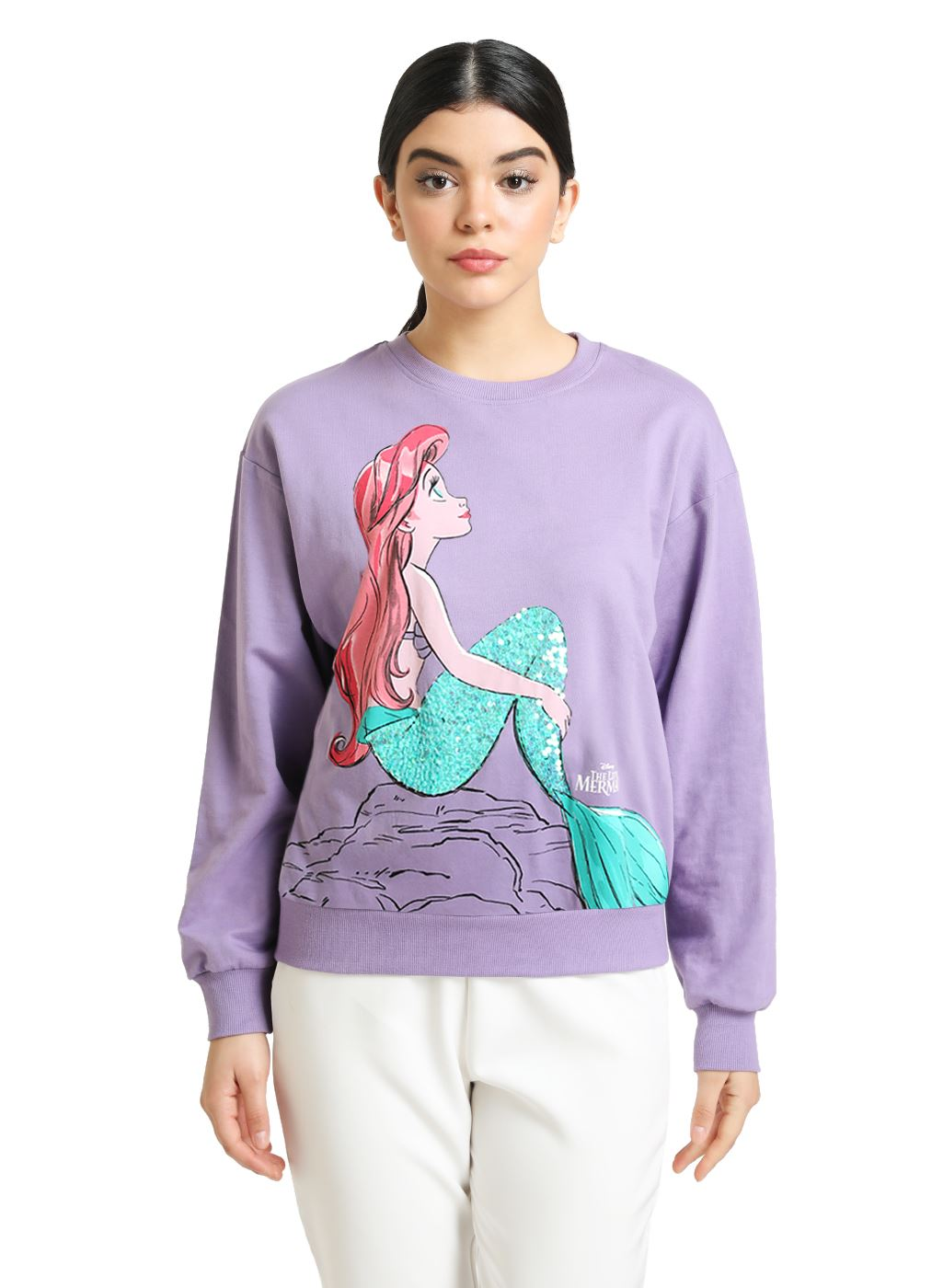 Kazo Women Casual Wear Purple Sweatshirt