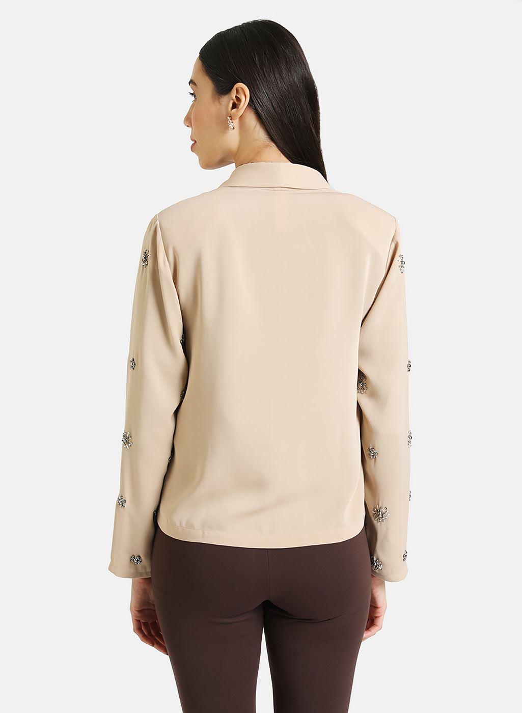 Kazo Women Casual Wear Beige Blazer