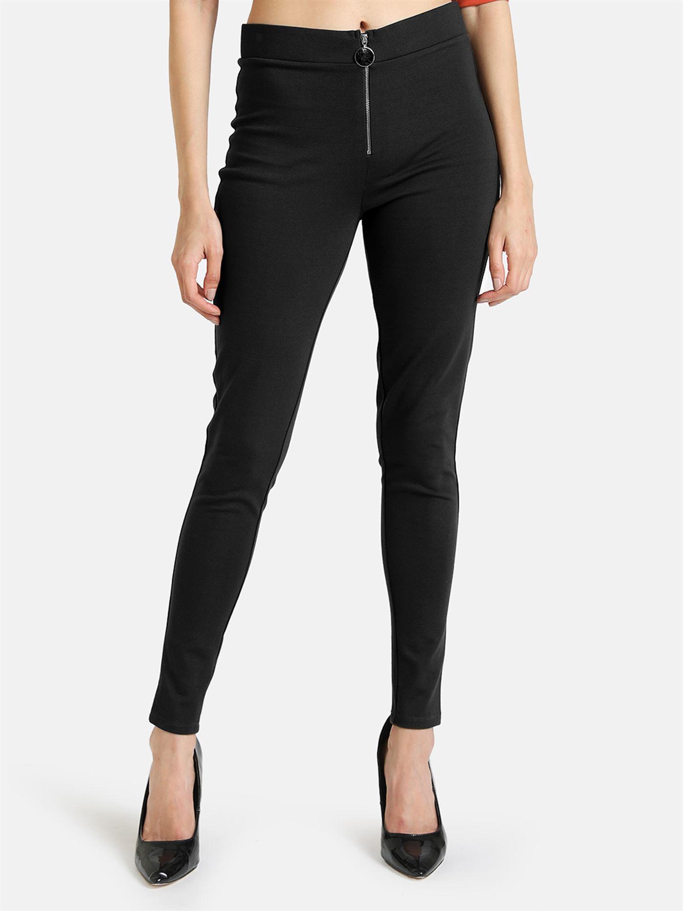 Kazo Women Casual Wear Black Jegging