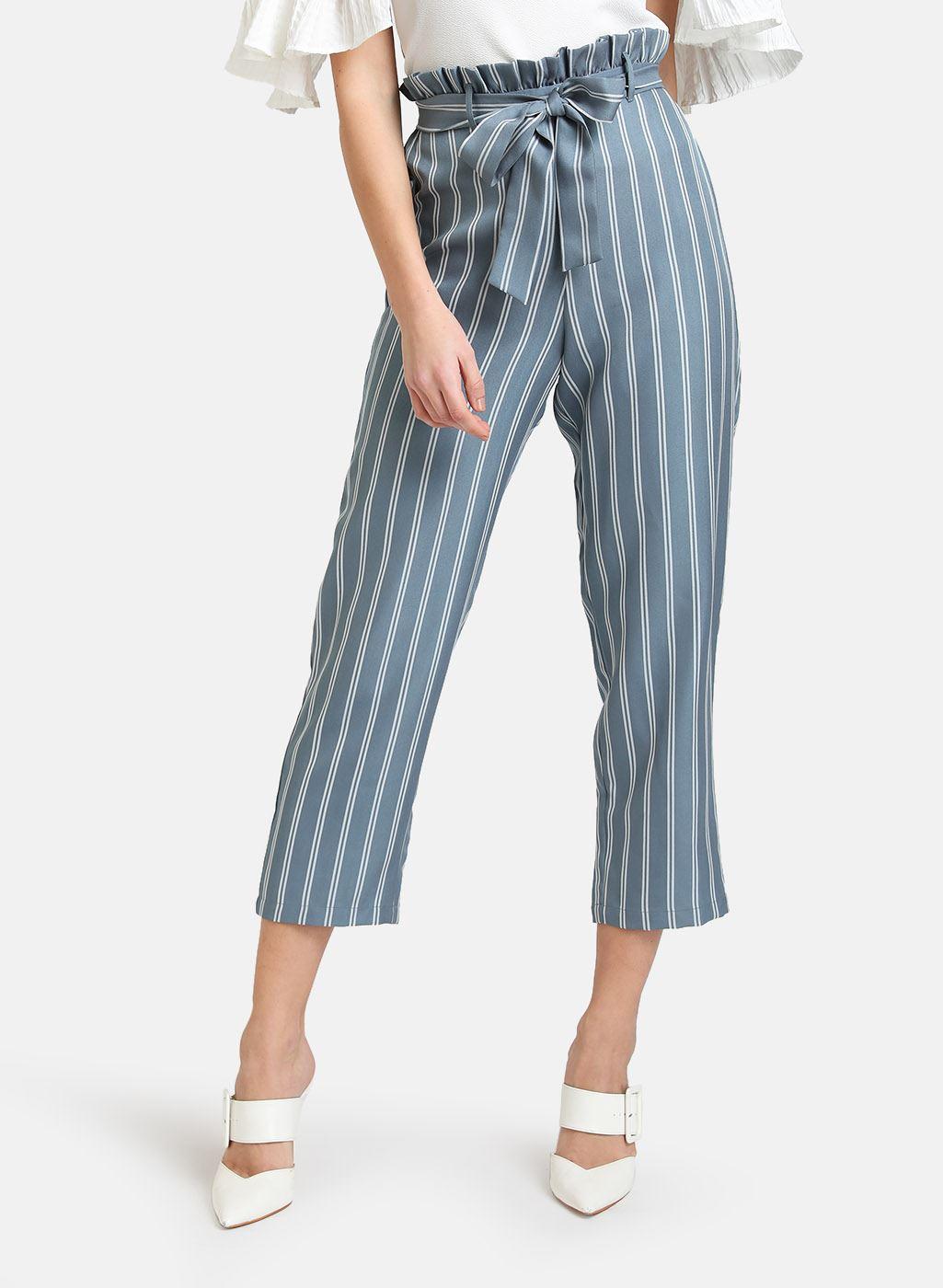 Kazo Women Casual Wear Grey Trouser