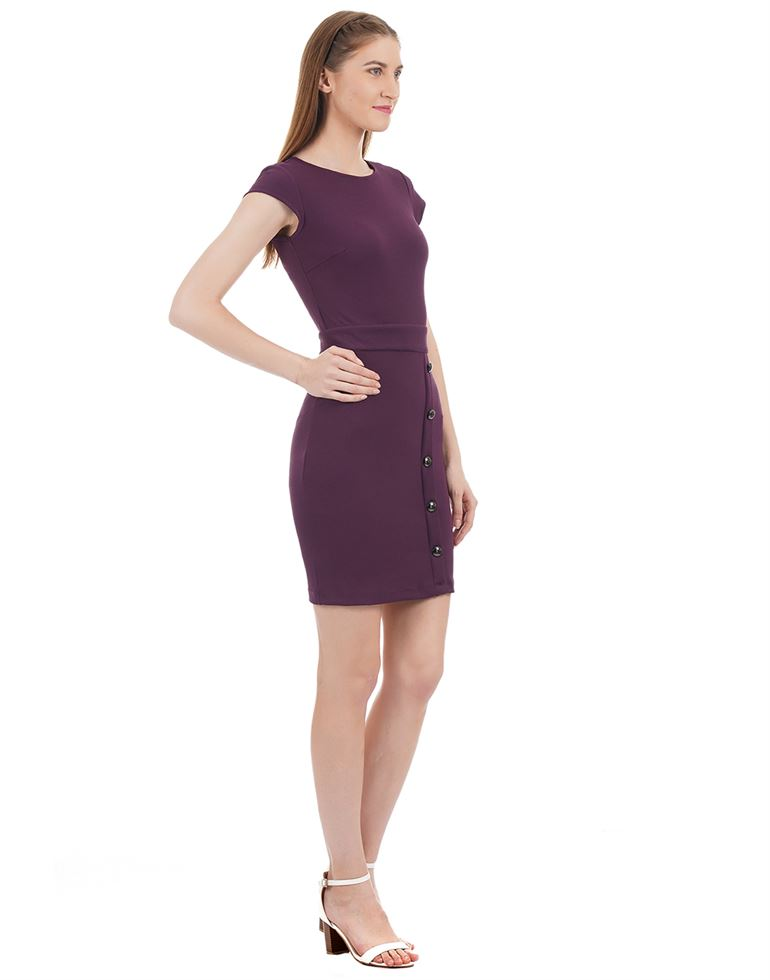 Kazo Women Casual Wear Solid Dress