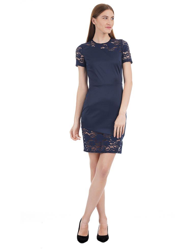 Kazo Women Casual Wear Solid Dresses