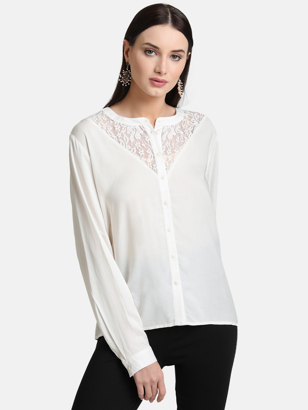 Kazo Women Casual Wear Solid Shirt