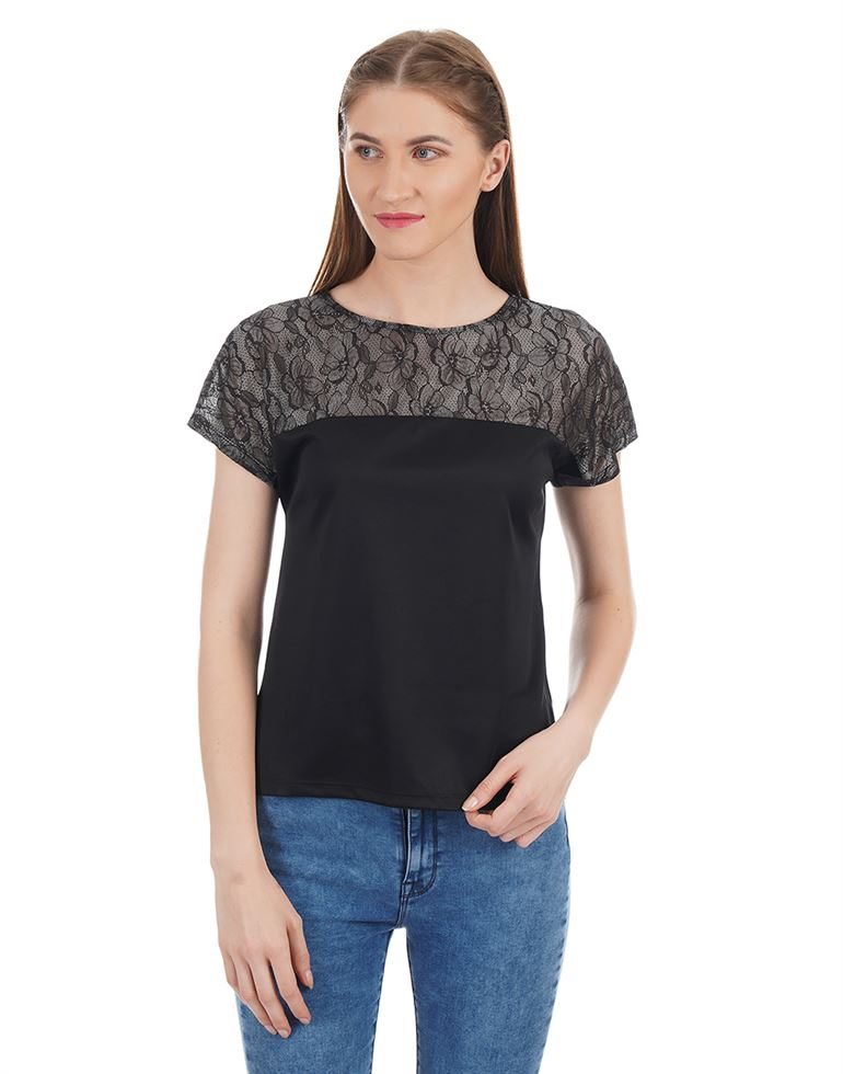 Kazo Women Casual Wear Solid T-Shirt
