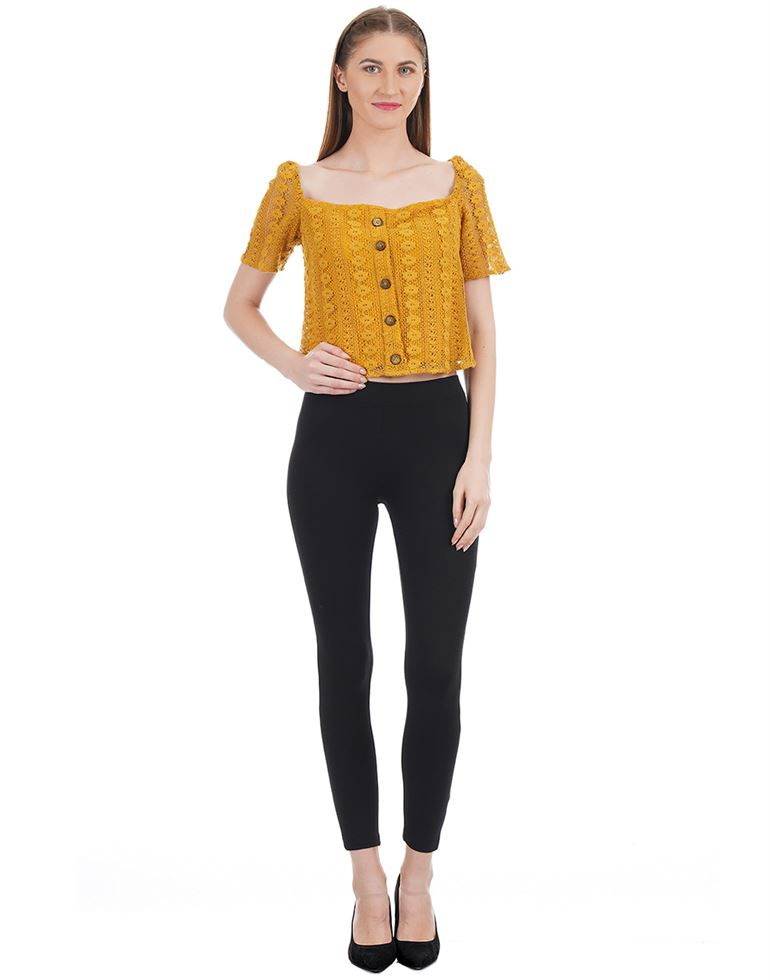 Kazo Women Casual Wear Self Design Top
