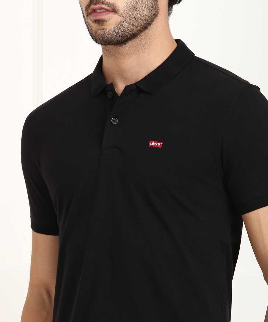 Levis Men Solid Casual Wear T-Shirt