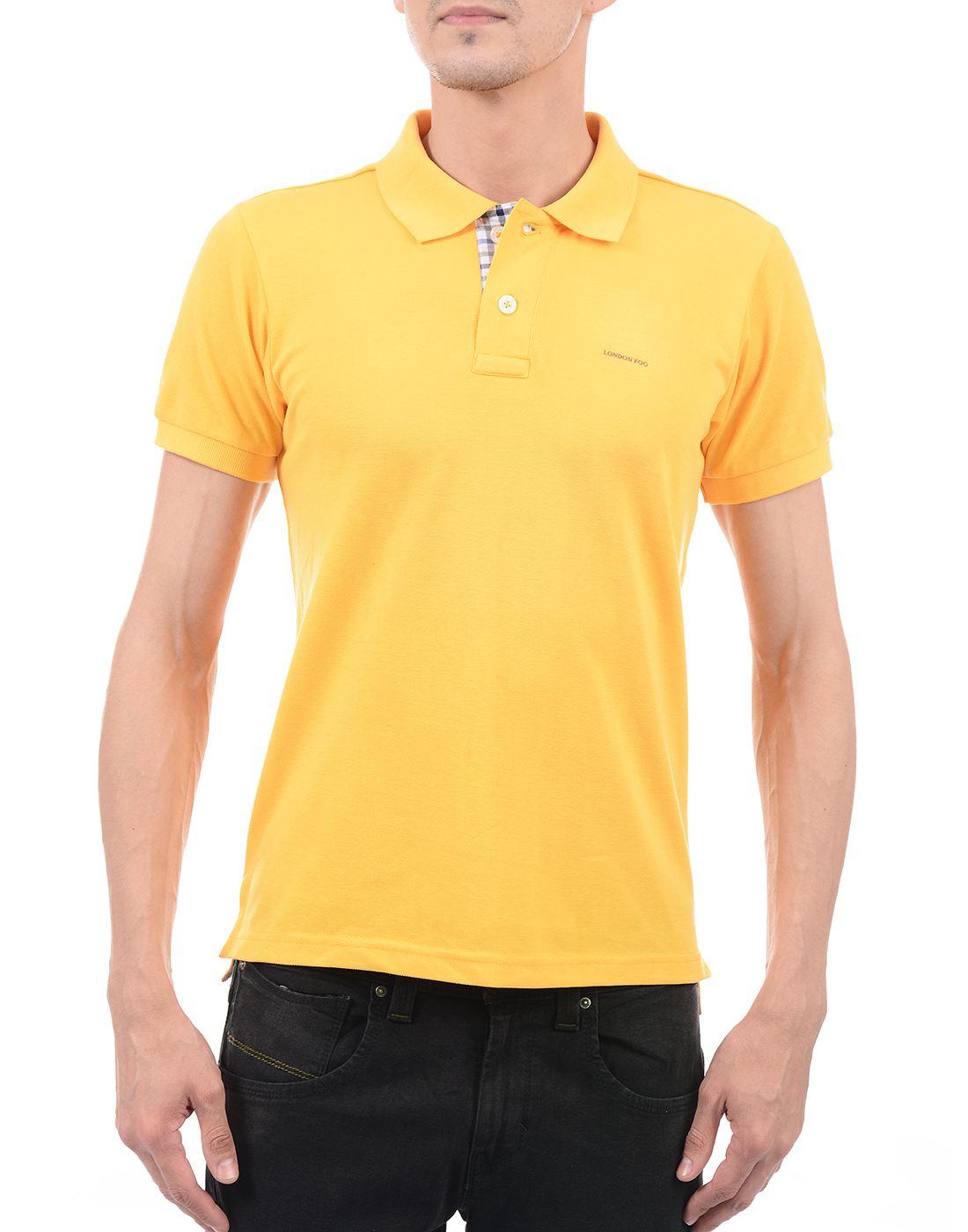 London Fog Men Casual Wear Solid  T-Shirt