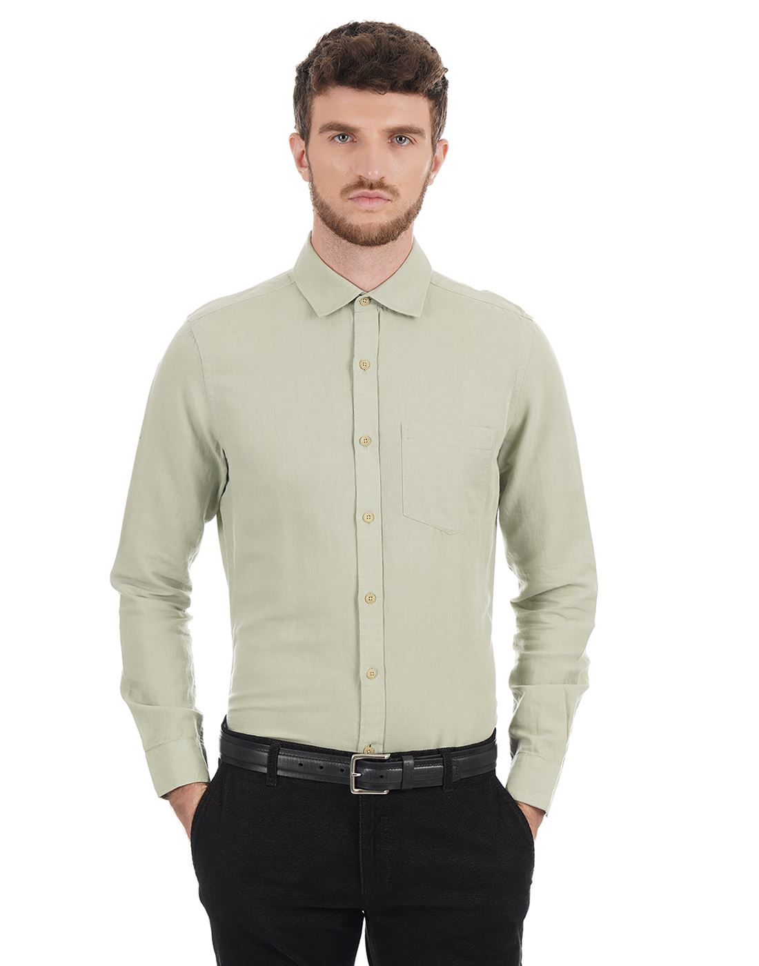 London Fog Men Solid Casual Wear Shirt