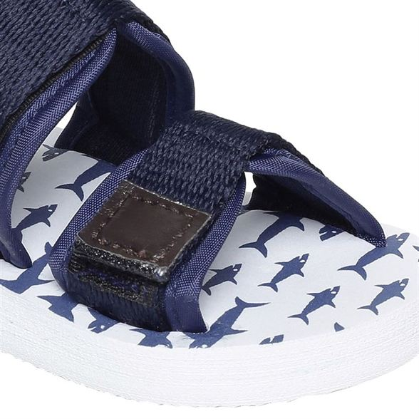 Miniklub Boys Navy Blue Printed  Hardsole Sandals