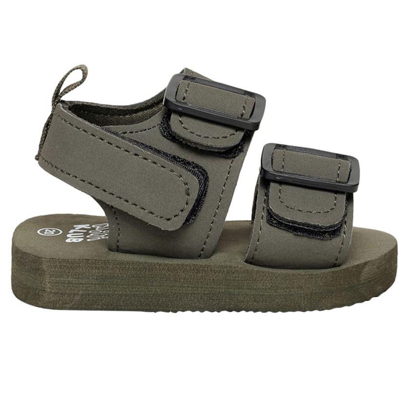 Miniklub Boys Green Solid  Hardsole Sandals