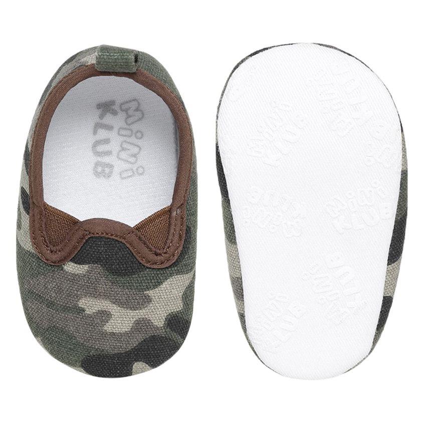 Miniklub Boys Green Textured Softsole Shoes