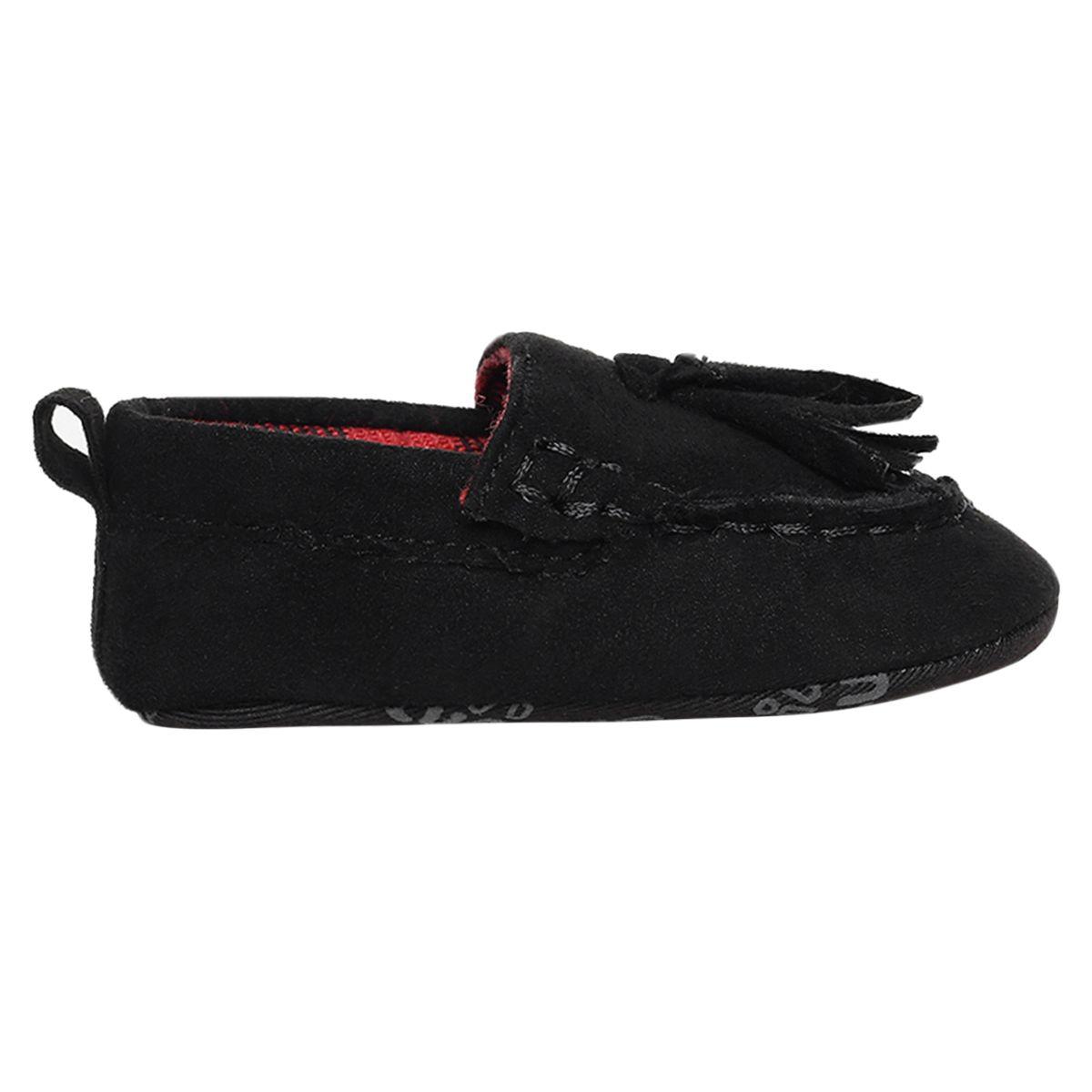 Miniklub Boys Black Solid Softsole Shoes