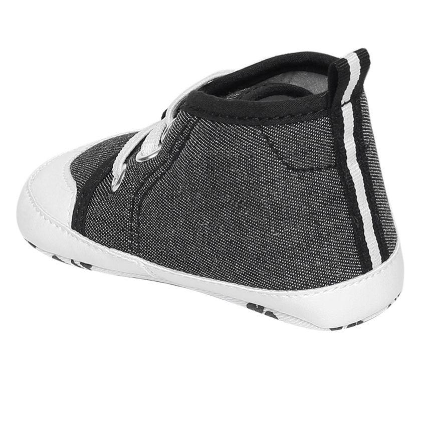 Miniklub Boys Black Textured Softsole Shoes