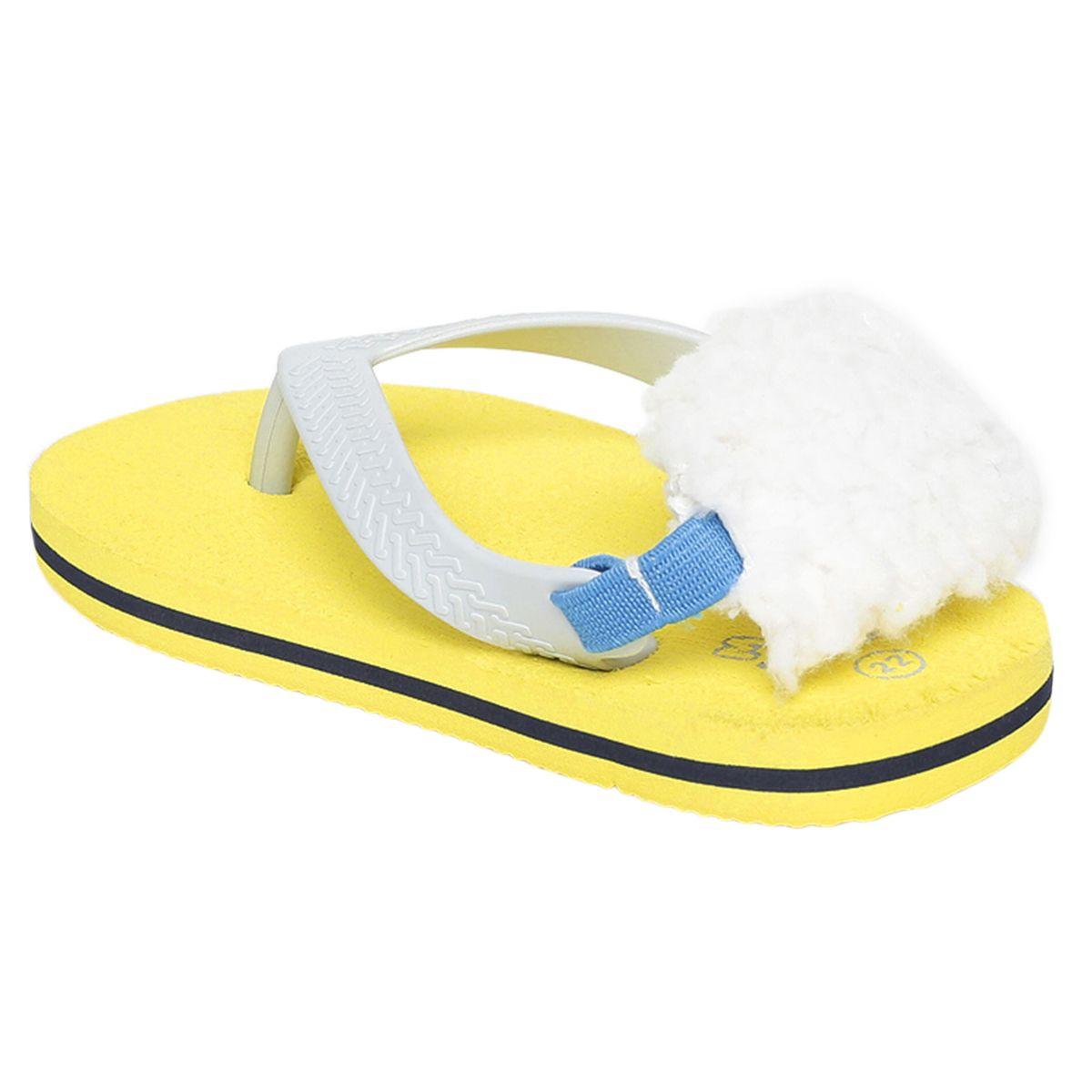Miniklub Boys Yellow Solid Hardsole Slippers