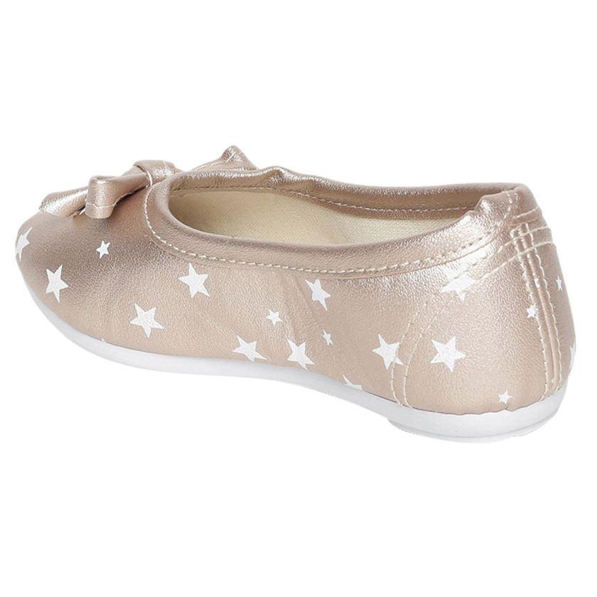 Miniklub Girls Silver Printed Hardsole Ballerina