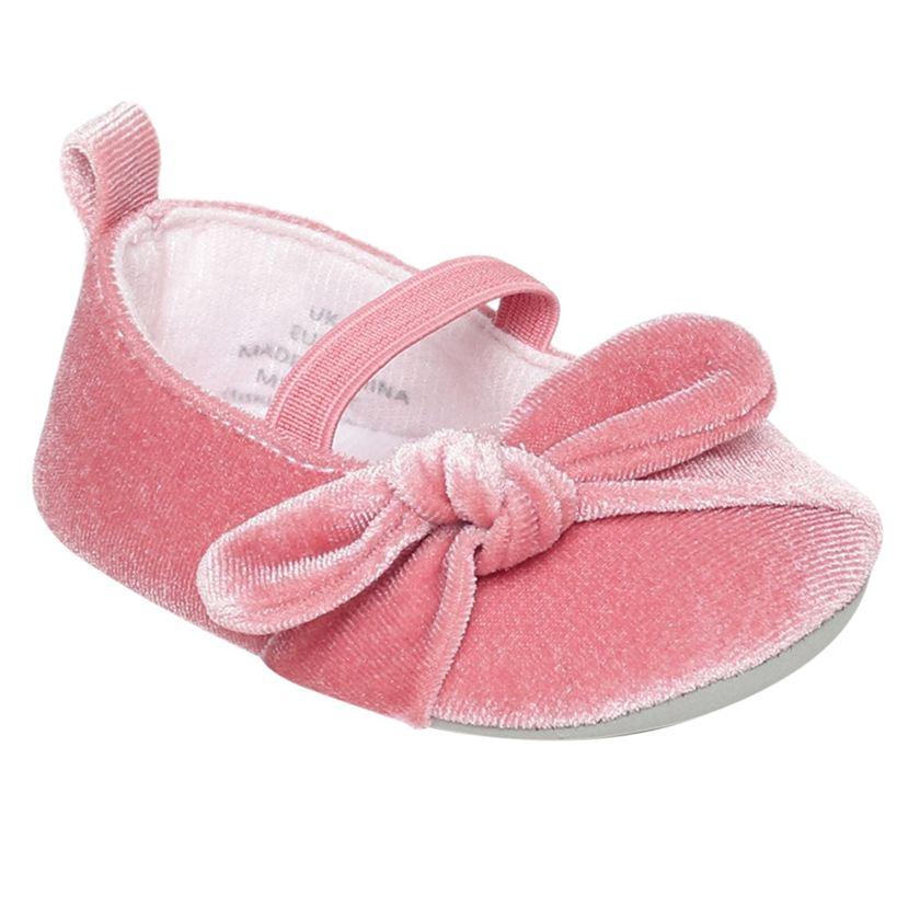 Miniklub Girls Pink Textured Softsole Ballerina