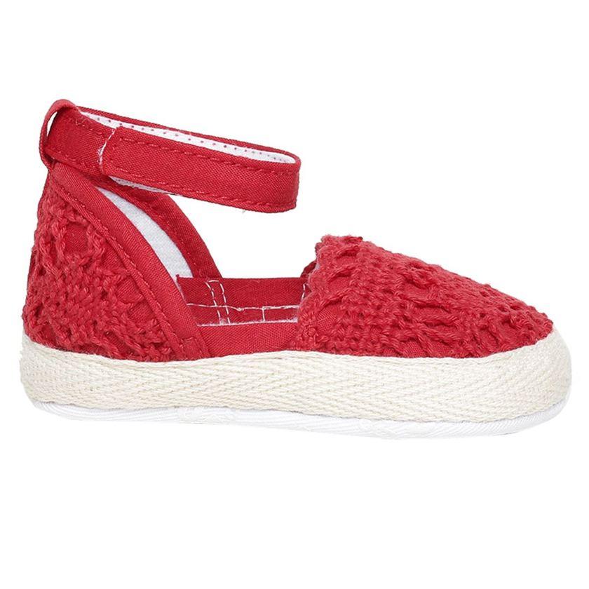 Miniklub Girls Red Textured Softsole Ballerina
