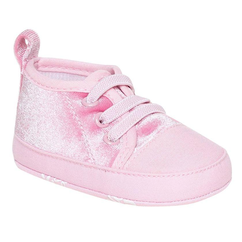 Miniklub Girls Pink Textured Softsole Shoes