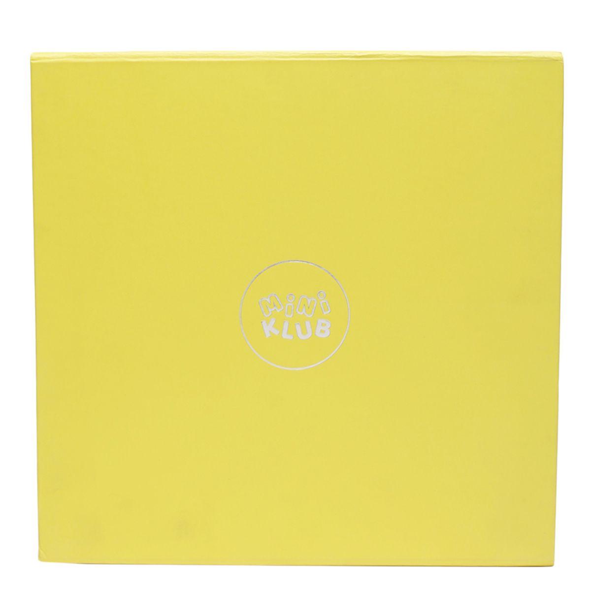 Miniklub Unisex Solid Yellow Pack of Sleepsuit, Hoodie, Photo Frame, Milestone Box & Toy
