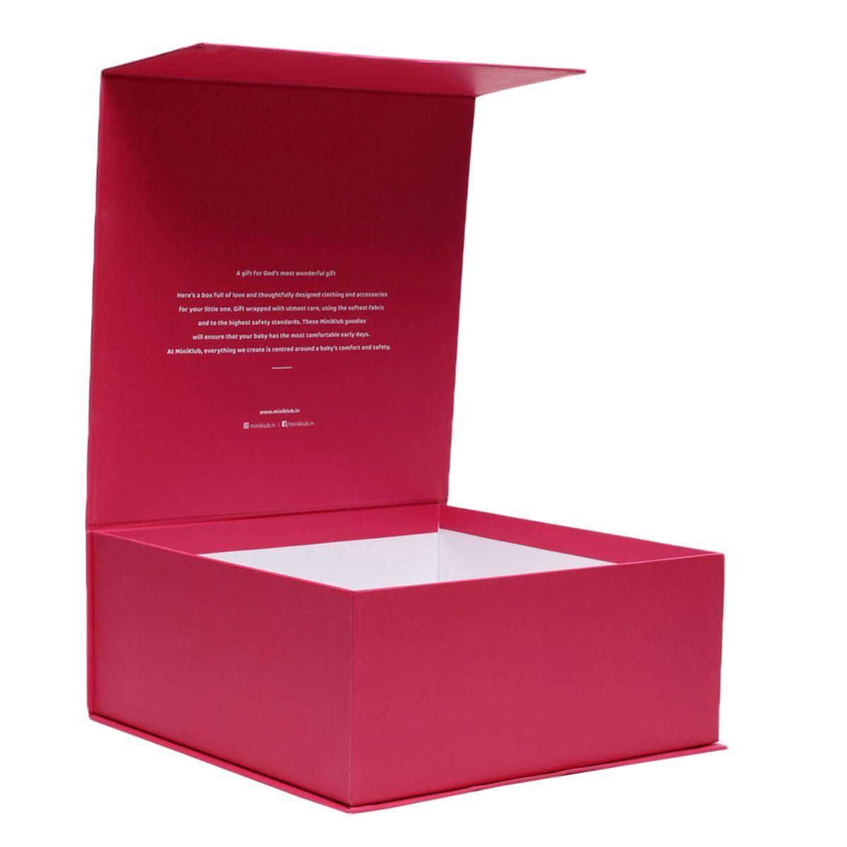Miniklub Unisex Pink Printed Pack of a sleepsuit, a Hoodie, a milestone box & a Toy