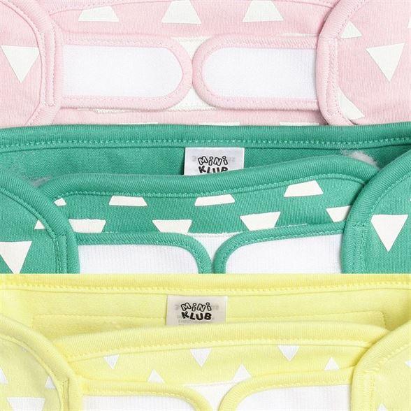 Miniklub Unisex Multicolor Printed Pack of 3 Wet Sensor Nappies
