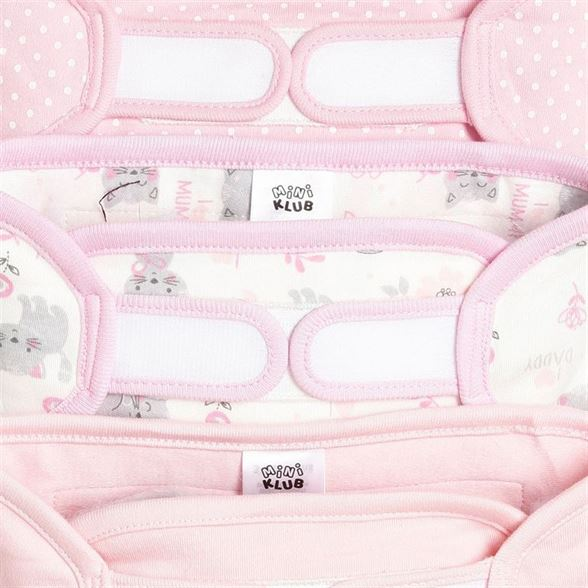 Miniklub Unisex Pink Printed Pack of 3 Nappies