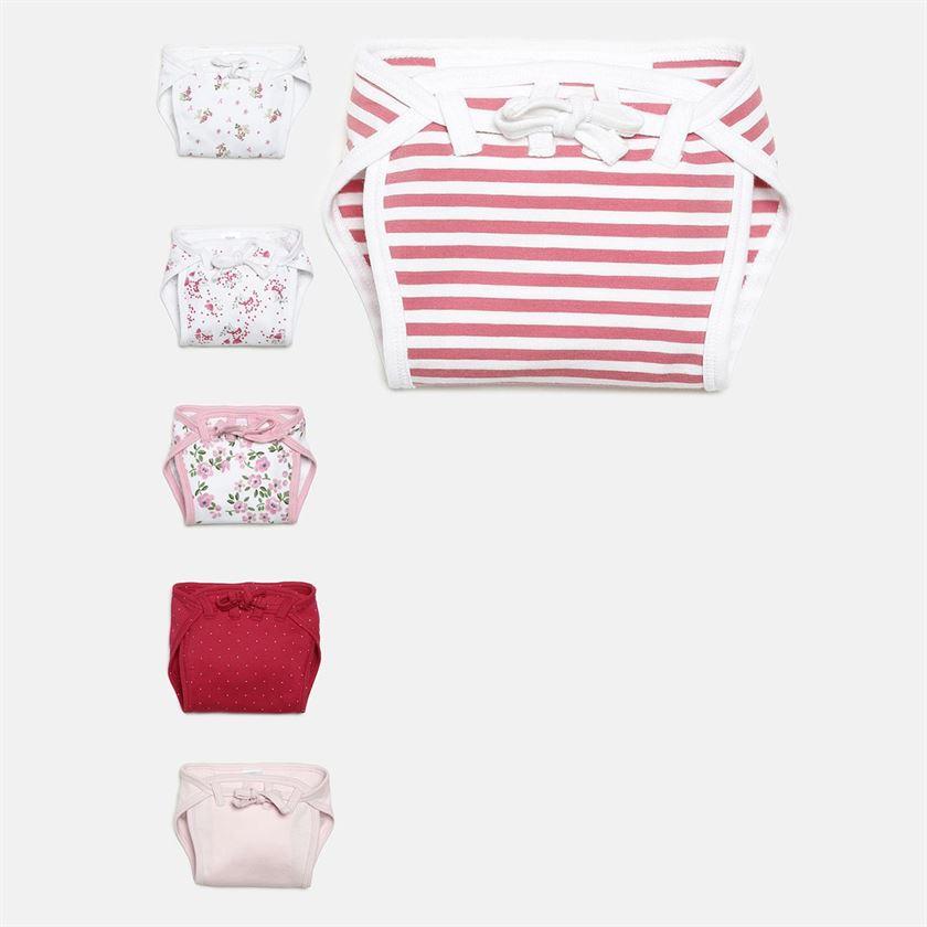 Miniklub Unisex Pink Printed Pack of 6 Nappies