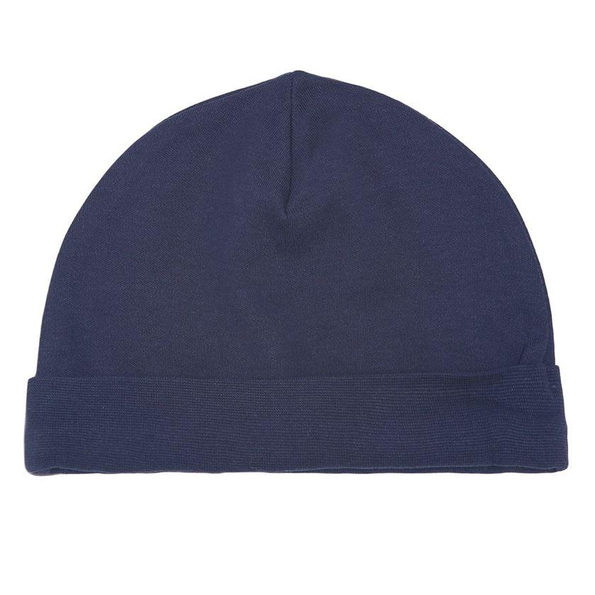 Miniklub Boys Printed Navy Blue Pack of 2 Caps