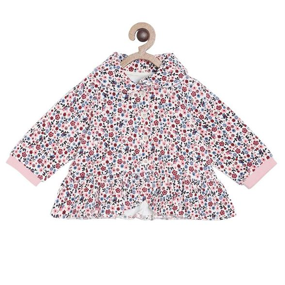 Miniklub Girls Off White Floral Print Jacket