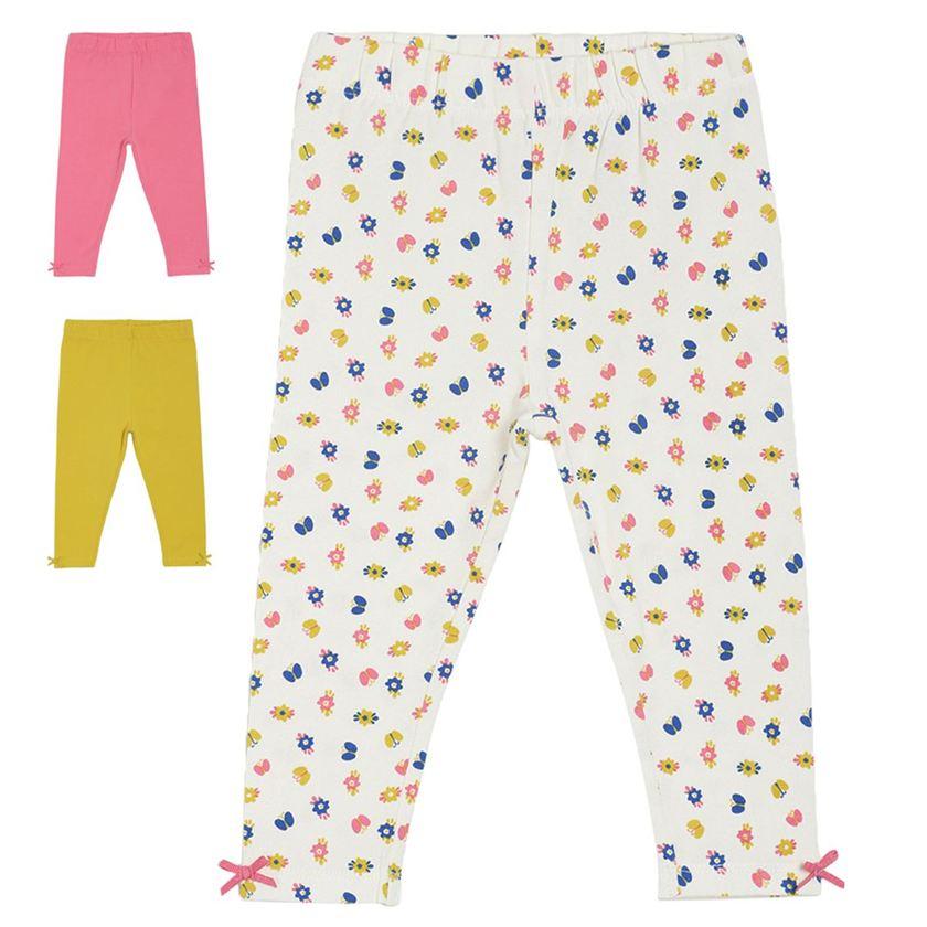 Miniklub Girls Multicolor Printed Pack of 3 Leggings
