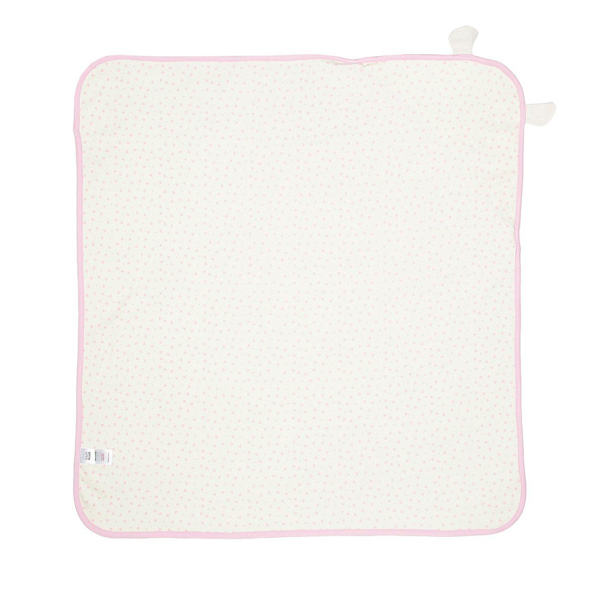 Miniklub Girls Solid Off White Baby Wrapper