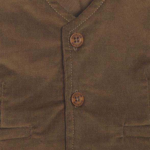 Miniklub Boys Brown Solid Waistcoat