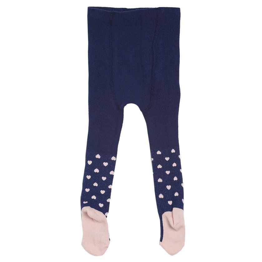 Miniklub Girls Navy Blue Printed Pack of 2 Stockings