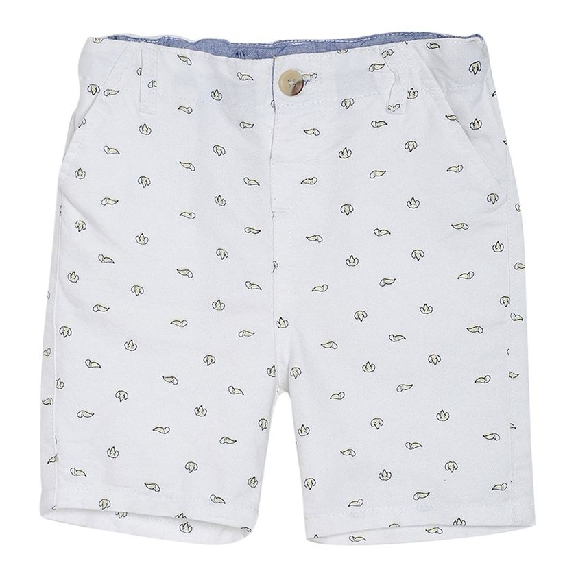 Miniklub Boys Beige Printed Shorts