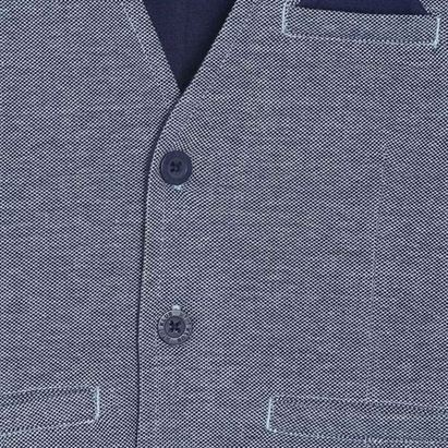 Miniklub Boys Blue Solid Waistcoat
