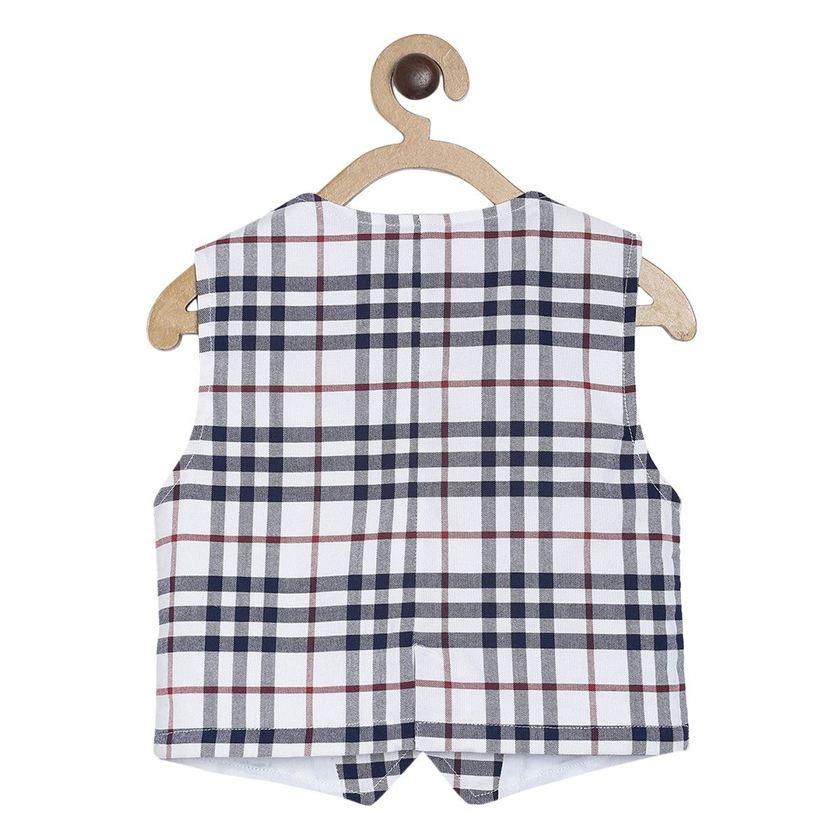 Miniklub Boys Multicolor Checkered Waistcoat