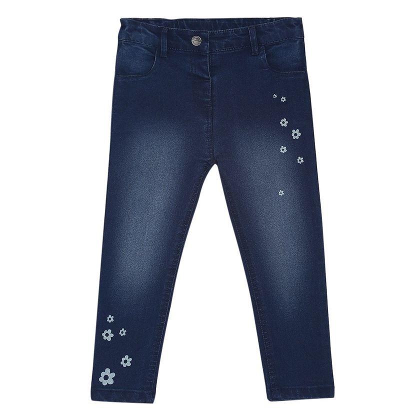 Miniklub Girls Blue Printed Jeans