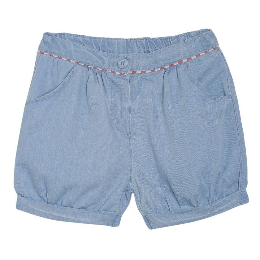 Miniklub Girls Blue Solid Shorts