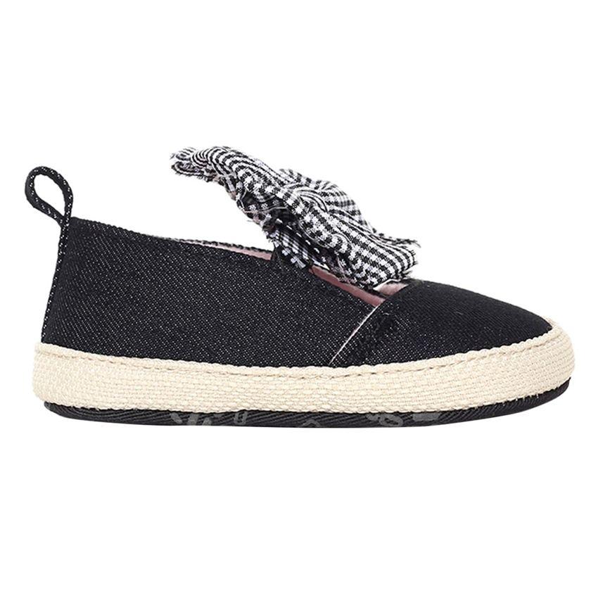 Miniklub Girls Black Textured Softsole Shoes