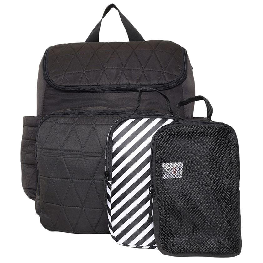 Miniklub Unisex Solid Black Diaper Bag