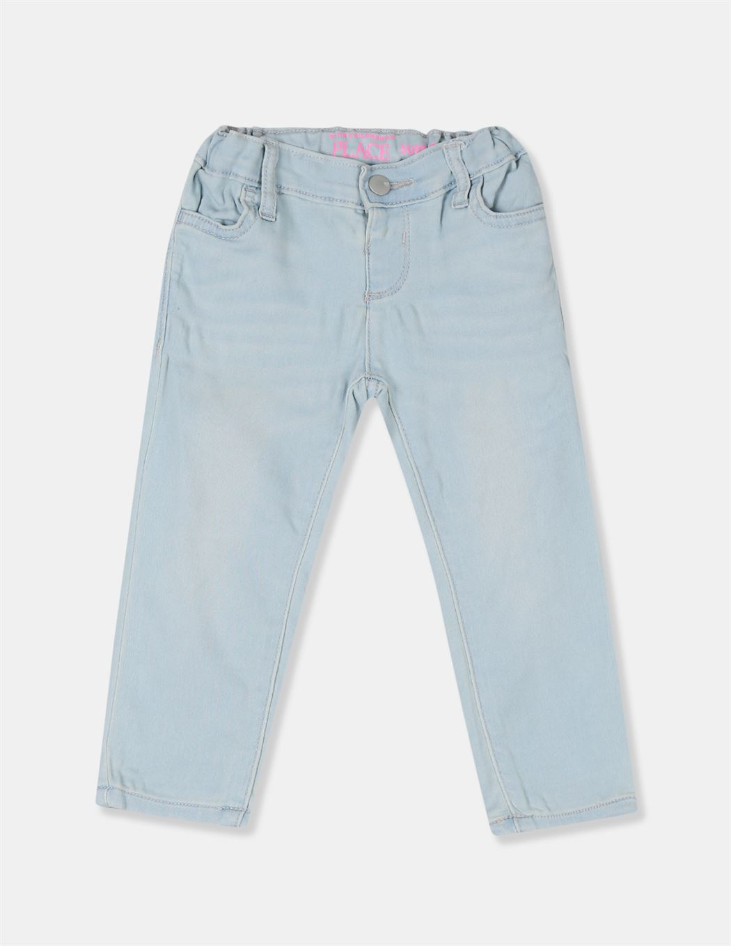 The Children's Place Girls Blue Super Skinny Fit Faded Jeans