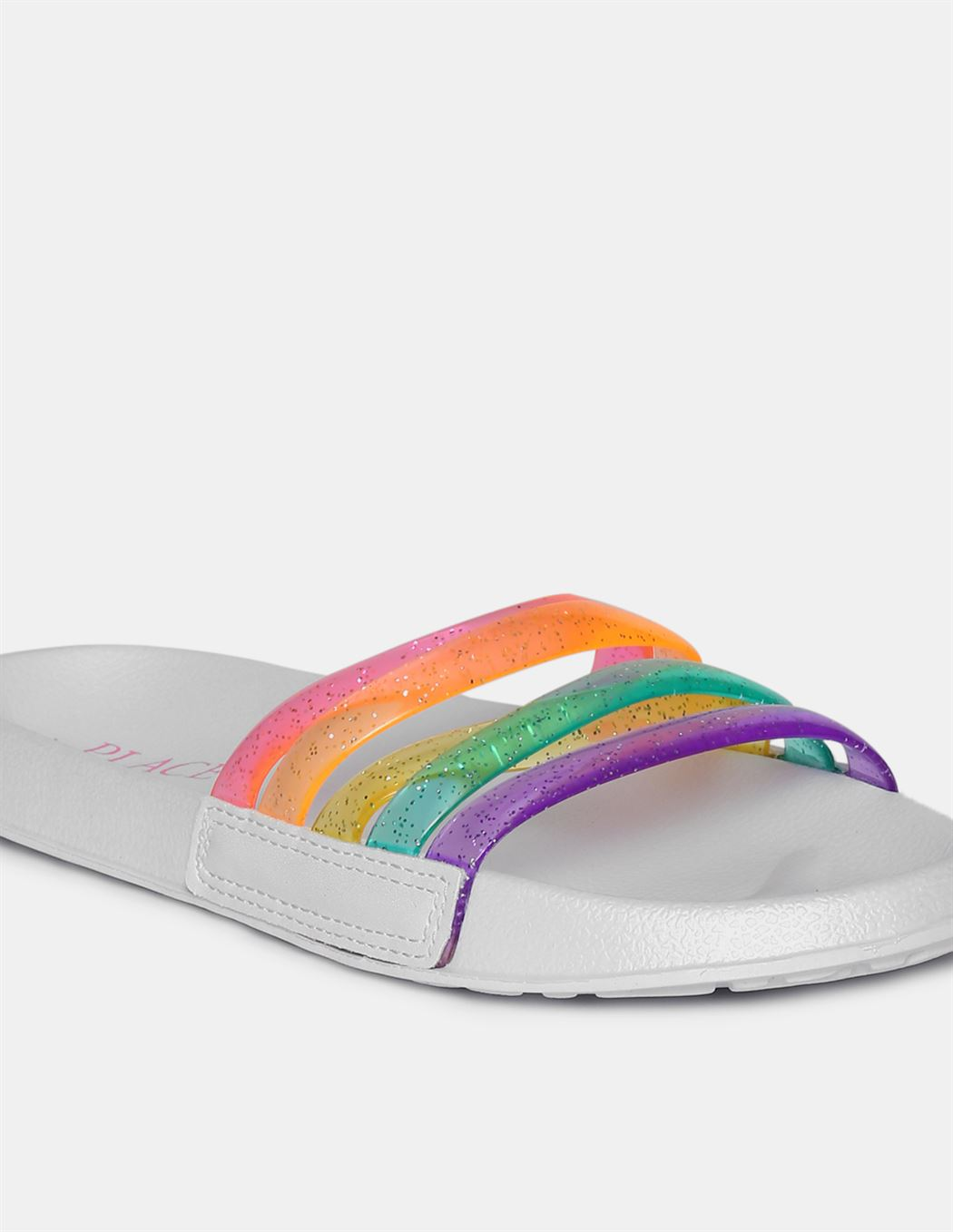 The Children's Place Girls Multi Colour Open Toe Strappy Slides