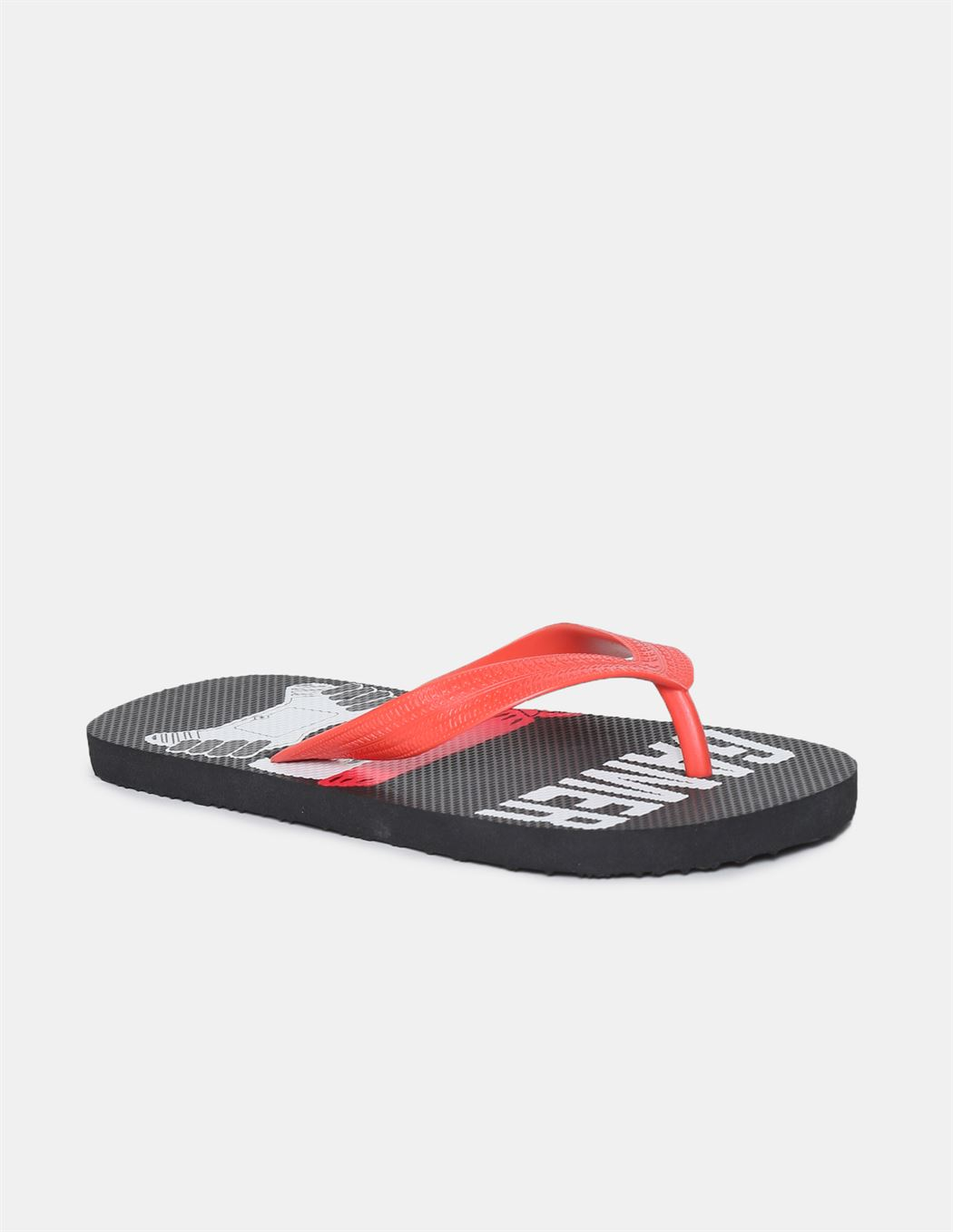 The Children's Place Boys Red And Black V-Strap Printed Flip Flops