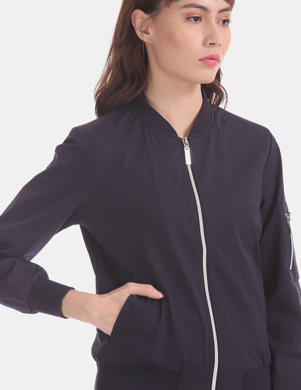 U.S. Polo Assn. Blue Zip Up Bomber Jacket