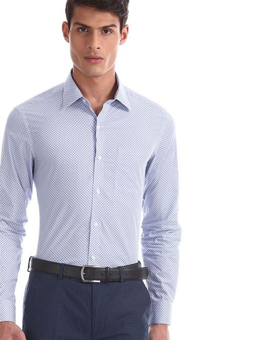 Arrow Men Formal Wear Blue Shirt