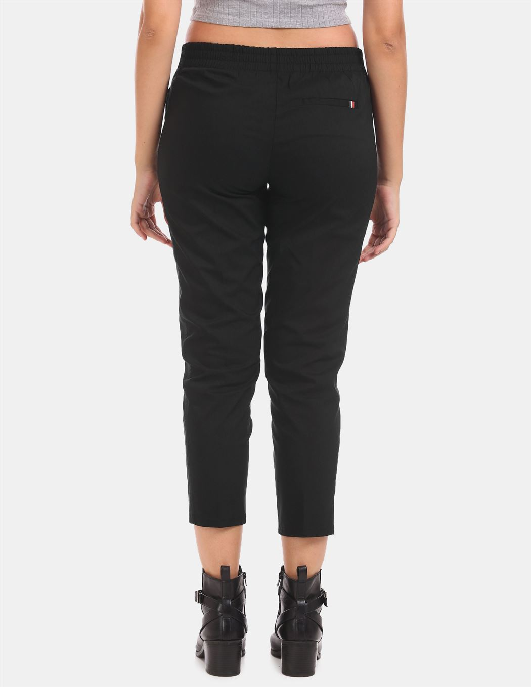 Tommy Hilfiger Women Casual Wear Black Track Pant