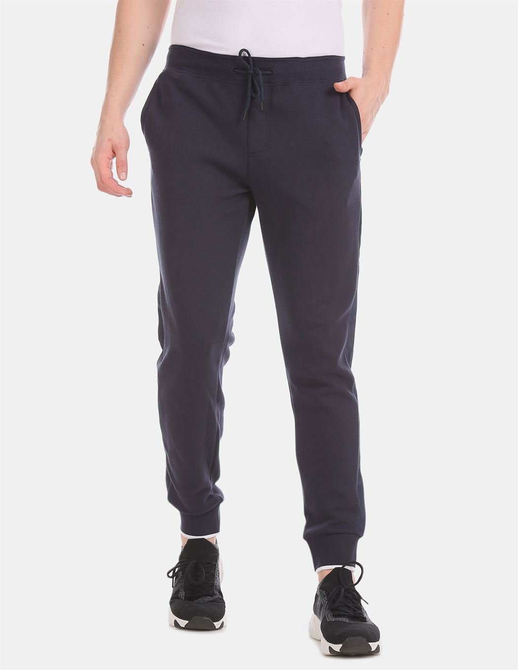 Tommy Hilfiger Men Casual Wear Blue Track Pant