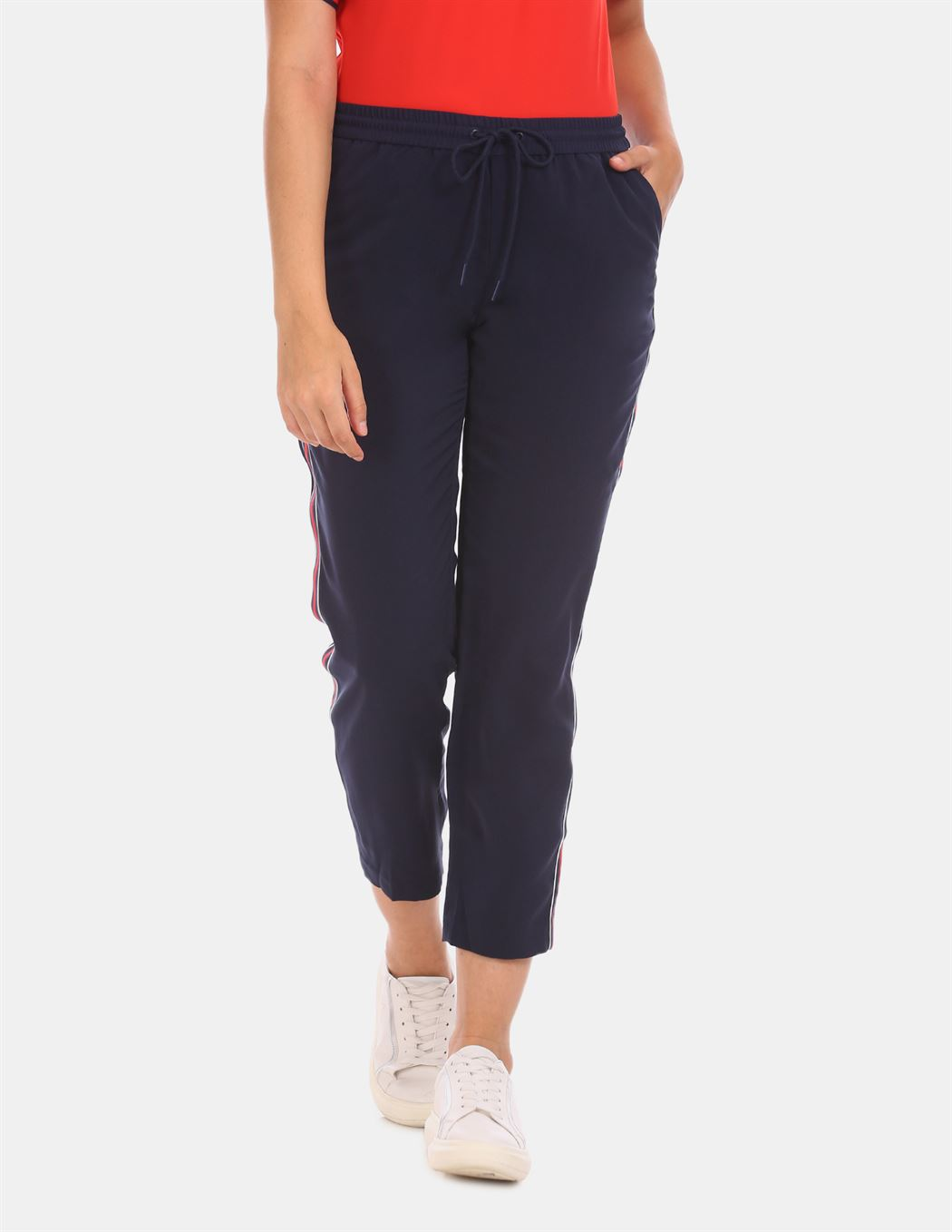 Tommy Hilfiger Women Casual Wear Blue Track Pant