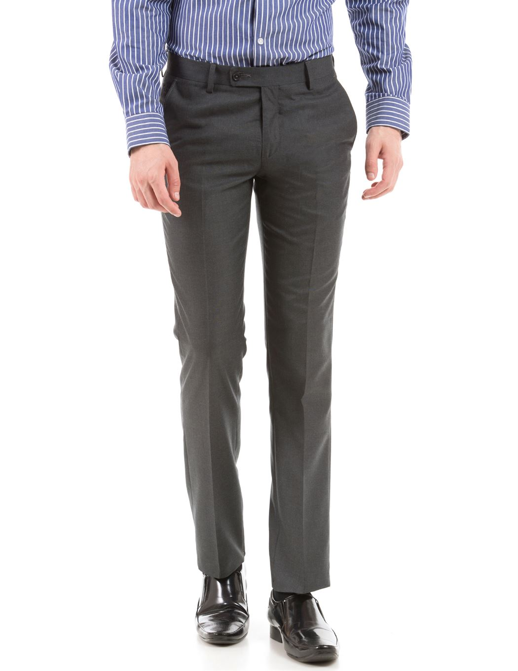 Arrow Men Formal Wear Dark Grey Trouser